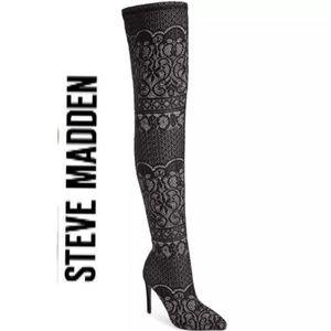 Sexy Lace Steve Madden OTK Boots